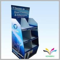 Made in China wholesale fancy durable customized design decorative cardboard diy bookcase wall shelf