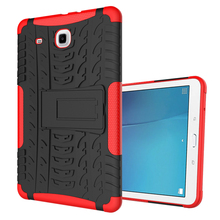 "For Samsung Galaxy Tab E / T560 9.6"" , Stylish anti-skid Shockproof Protective Rugged Rubber Silicone PC Tablet Case"