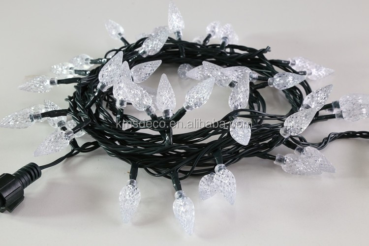 Direct factory price battery operated pinecone garland lights outdoor
