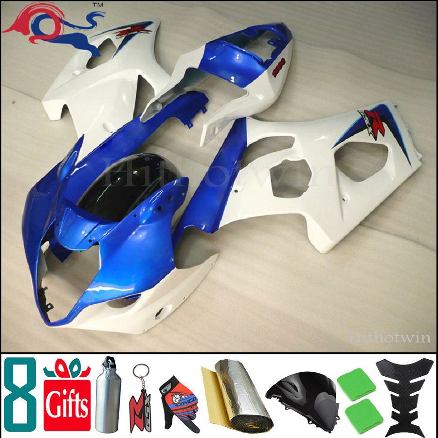 manufacturer customize ! 8Gifts+Injection mold GSX-R1000 03-04 for Suzuki K3 GSXR1000 2003 2004 motorcycle Fairing blue