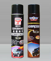 Clear rubber coating spray sealant