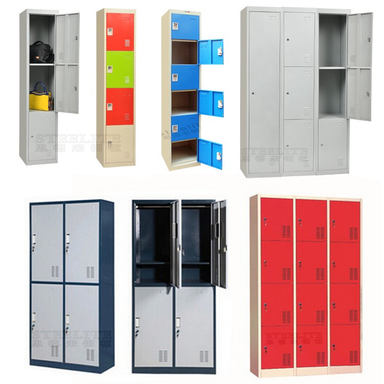STEELITE colorful iron single door design locker used metal cabinets sale