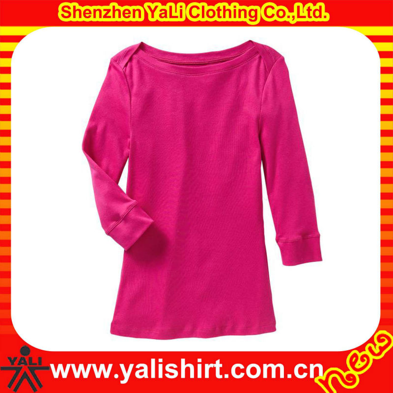 Fashion bulk casual half sleeve o-neck cotton blank women custom fitness t shirt