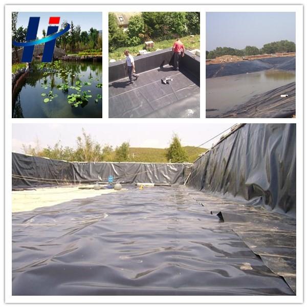 Artificial pond liner black polyethylene sheet hdpe for Pond liner material