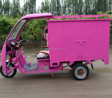 New energy Express delivery electric vehicle closed cargo tricycle /Cabin cargo tricycle for sale