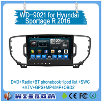 2 din car radio with navigation Hyundai Sportage R 2016 car dvd gps player support auto audio bluetooth mp3 player touch screen