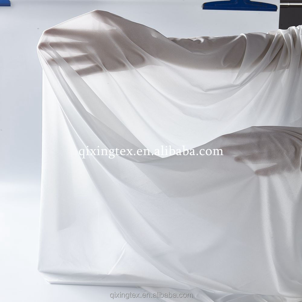New design 100 polyester DeFu white fabric for dresses in Guangdong Suppliers