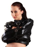 Women Sexy Wear Leather Bondage Jacket Black Fetish Wear Sexy Clothing