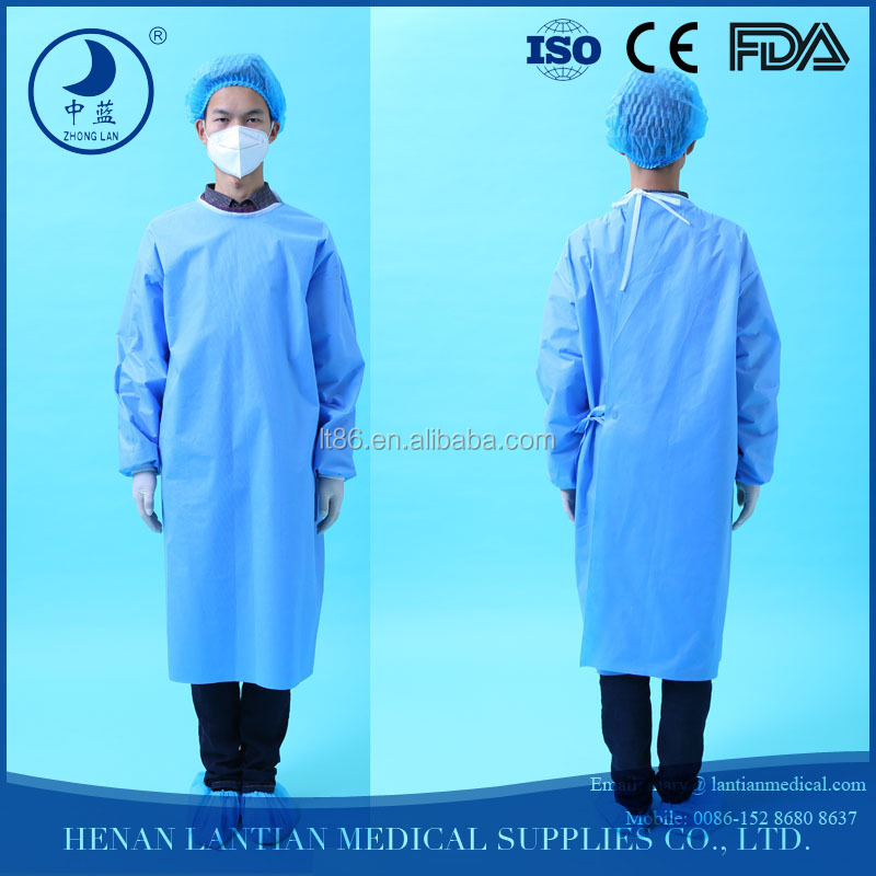 high quality non woven sterile surgical working suits ,laboratory gown