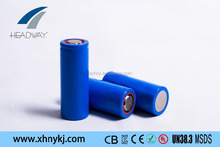 HW cylindrical lifepo4 rechargeable battery 22650 2000mAh