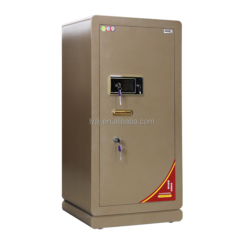 Large heavy electronic digital bank safe