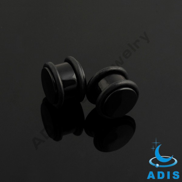 2017 cheap ear piercing jewelry acrylic plugs ear tunnel gauges with two black O-rings