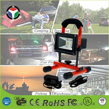Colorful Movable Portable 10w Rechargeable Led Flood Light With Handle CE RoHS