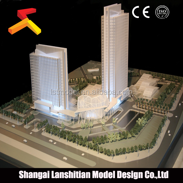 commercial building plans model, miniature modeling street lighting for models building making