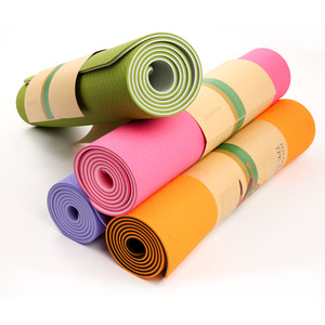 Double Color Non Slip Excellent Cushion 6mm Thick Fitness Yoga mat Bag