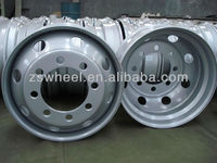 custom truck steel wheel 22.5*8.25 with 8 holes pcd 285