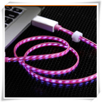 Flowing LED Glow in the Dark Light Up Visible Charging Cable Micro USB Samsung Galaxy S3 S4 S5 Note HTC