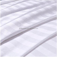100 Cotton White Satin Stripe Fabric 173x120