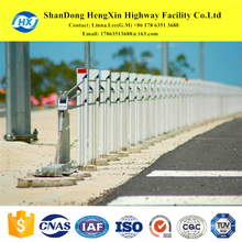 road safety highway crash guardrail barrier crowd control stanchion with zinc coated treatment by H C U Z type channel steel