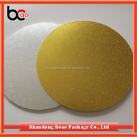 wholesale food grade foil paper golden cardboard cake circles