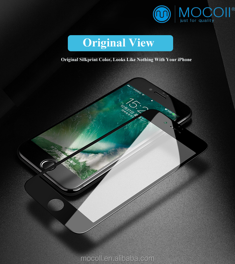 3D mobile accessory 9H tempered glass For iPhone 6/6s tempered glass screen protector