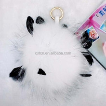 new raccoon hair ball wind chimes ball car bags key ring pendant feathers hair ball package ornaments