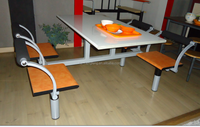 stylish 4seater school canteen furniture