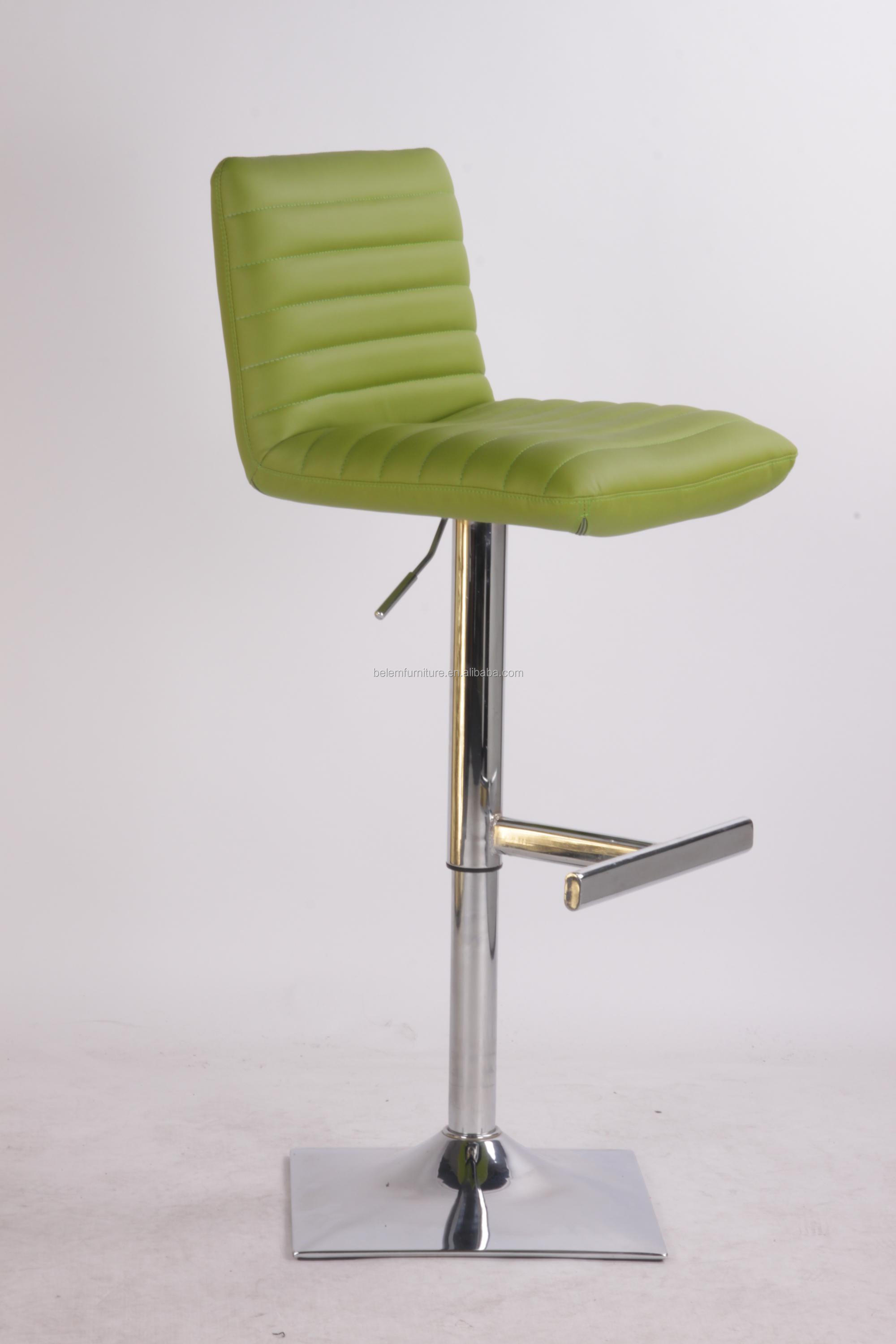 Cheap Uphostery PU barstool with Chrome Gasflit and Square Base BL0130