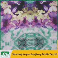 Flower pattern 210T polyester custom paper printing fabric with good quality at cheap price