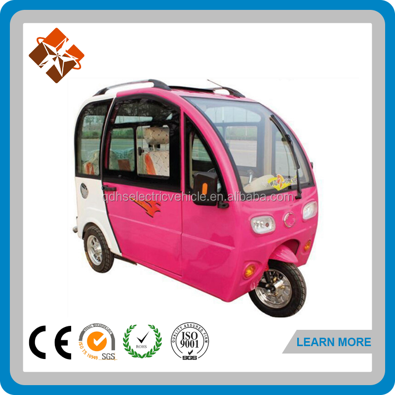 Popular Pink passenger enclosed cabin 3 wheel motorcycle