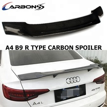 R type Carbon Car Auto Wing Spoiler for audi a4 b9 2017+