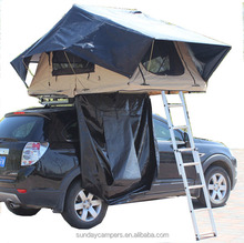 Outdoor camping 4WD adventure camp folding roof tent for SUV Trailer