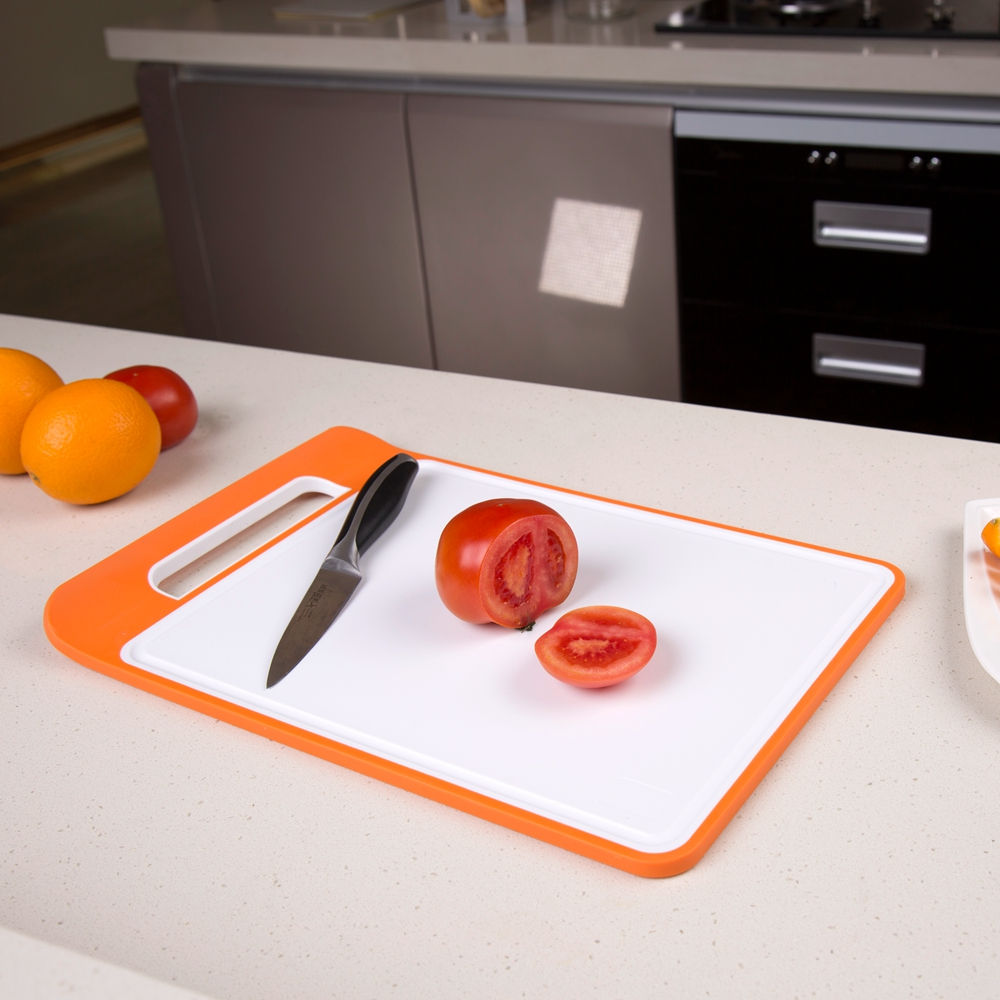 KMD Non-slip High quality BPA Free Plastic PP chopping cutting board with LFGB FDA