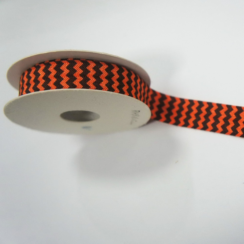 #1000569 2 yards per roll Jacquard ribbon 5/8 inches width custom printed ribbon