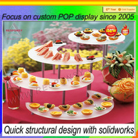 countertop clear acrylic cake display stand