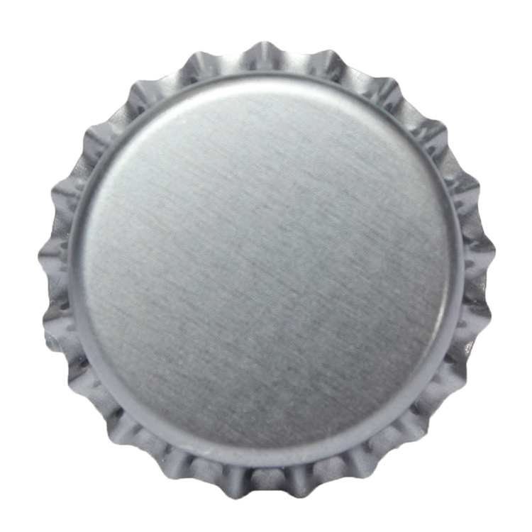 Silver customized logo metal beer bottle crown cap