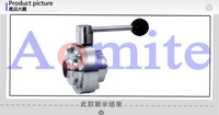 sanitary stainless steel weld butterfly type ball valve