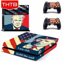 Famous businessman Trump vinyl skin decal sticker for ps4 controller