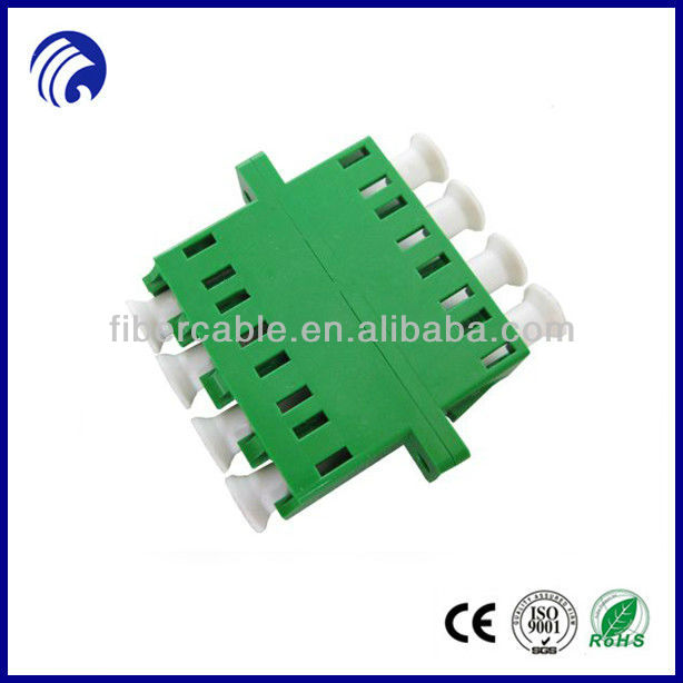 China manufature LC APC Quad Fiber Optic Adapter