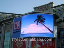 SRY outdoor p10 led display advertising stadium clock led display led running message display sign