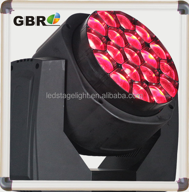 youtube hot sale 19*15W led bee eye moving head light