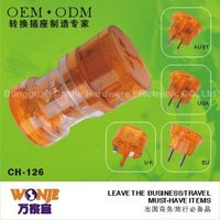 multifunctional power adapter, german and england plug adapter, orange world travel adapter