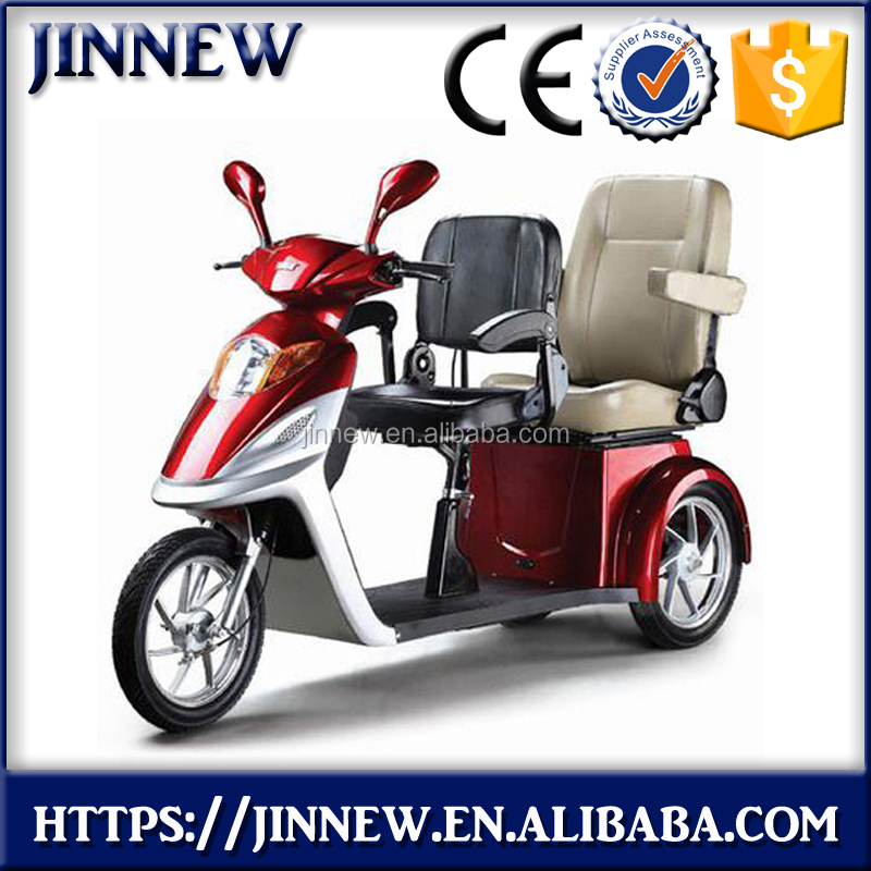 60V 500w cheap 3 wheels fashion brushless electric tricycle scooter for adults with CE certification