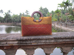 Mind-blowing gift for female, aesthetically pleasing bamboo handbag 100% handmade