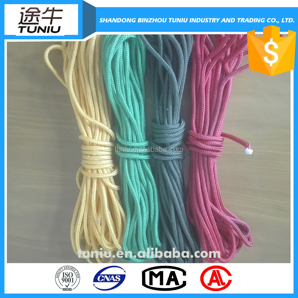 colored braided rope string 6mm