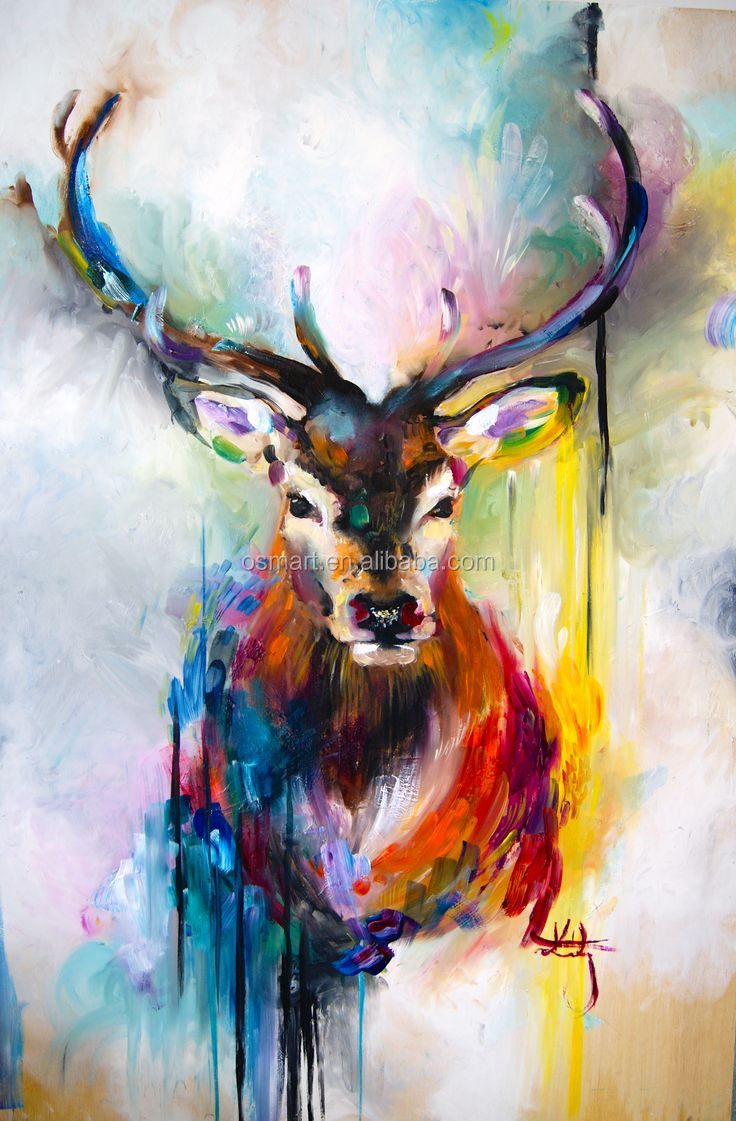 Artist New Design Pop Art Oil Painting For Wall Decoration Hand-painted Kinds of Animals Oil Painting On Canvas