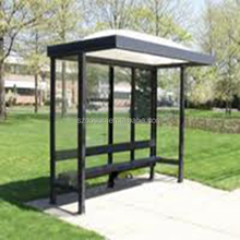 used beautiful simple and strong perfabricated bus shelter