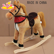 wholesale hottest sale baby wooden outdoor rocking horse W16D070