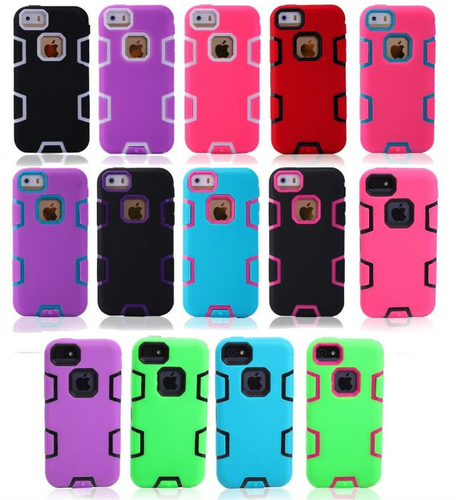 2014 New products C Series Wholesale Cross Color PC+TPU Silicone Cell Phone Protective Case for Apple iphone5c