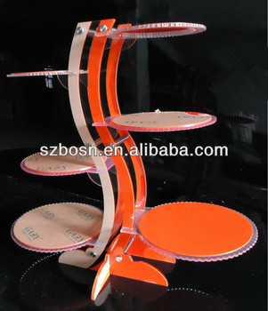Acrylic Cupcake Stand,Acrylic Pastry Display,Acrylic Signle Cupcake Stand